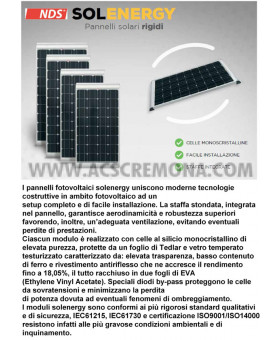 PANNELLO SOLARE CAMPER NDS SOLENERGY 100 W SLIM PSM100WPS.2
