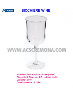 Bicchiere WINE OUTWELL policarbonato 4pz.