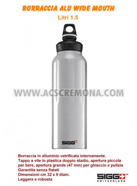 Borraccia alluminio SIGG WIDE MOUTH ALU 1.5 LT blu