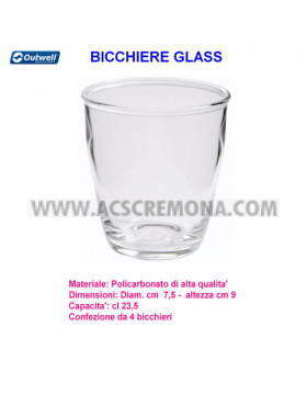 BICCHIERE GLASS OUTWELL POLICARBONATO