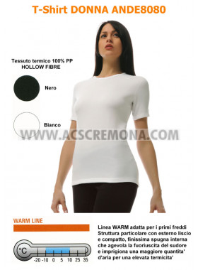 T-SHIRT DONNA TERMICA D.FENSE ANTISUDORE ANDE8080