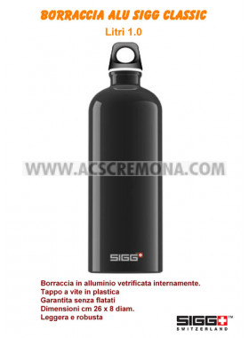 Borraccia alluminio SIGG TRAVELLER 1.0 lt Black