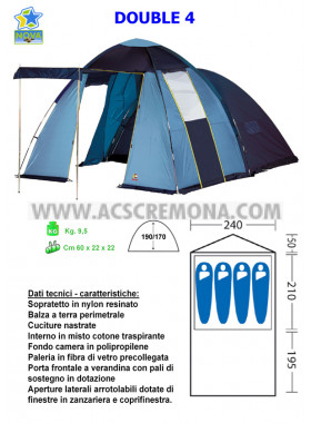Tenda Igloo DOUBLE 4 Nova Outdoor