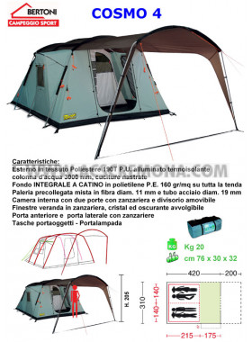 Tenda Igloo COSMO 4 VIP Bertoni tende