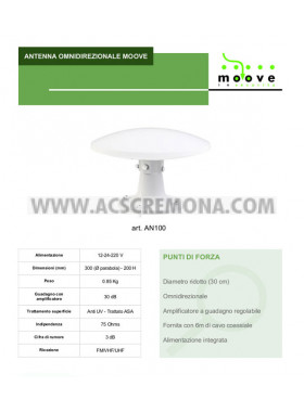 ANTENNA OMNIDIREZIONALE MOOVE AN100 Moscatelli camper caravan