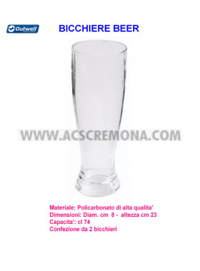 Bicchiere BEER OUTWELL policarbonato 4pz.
