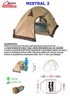 Tenda Igloo MISTRAL 2 Bertoni tende