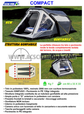 Tenda igloo COMPACT 2 XL Conver Gonfiabile