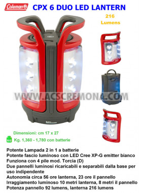 Lampada CPX 6 DUO LED LANTERN Coleman