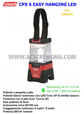 LAMPADA COLEMAN CPX 6 EASY HANGING LED LANTERN