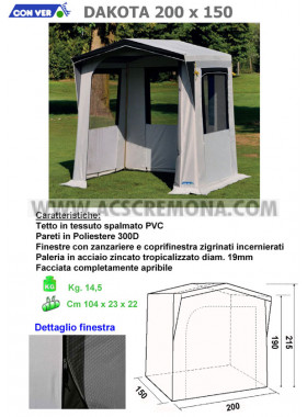 Tenda Cucina DAKOTA 200 x 150 CONVER