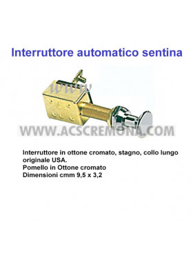 INTERRUTTORE A TIRETTO CROMATO