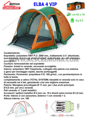 Tenda Igloo ELBA 4 VIP Bertoni tende