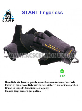 GUANTI ARRAMPICATA FERRATA START FINGERLESS CAMP