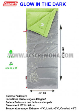 Sacco letto Coleman Glow in the dark linea Youth - Kids