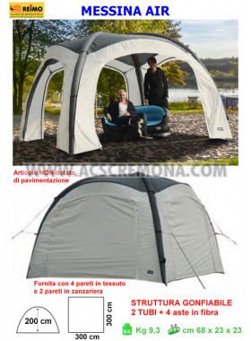Gazebo MESSINA LUFT PAVILLON REIMO pneumatico mt 3 x 3
