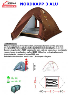 Tenda Igloo NORDKAPP 3 ALU Bertoni tende