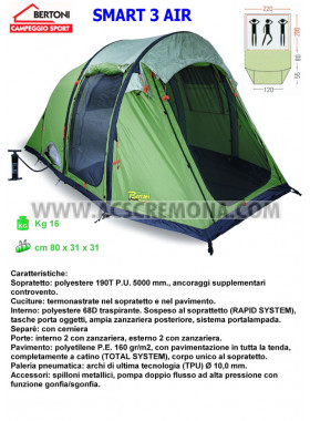 Tenda igloo SMART 3 AIR Bertoni tende PNEUMATICA