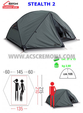 Tenda Igloo BERTONI STEALTH 2