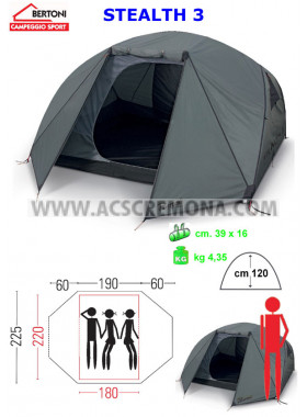 Tenda Igloo BERTONI STEALTH 3