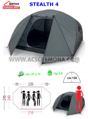 Tenda Igloo BERTONI STEALTH 4