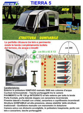 Tenda igloo TIERRA 5 GONFIABILE Conver