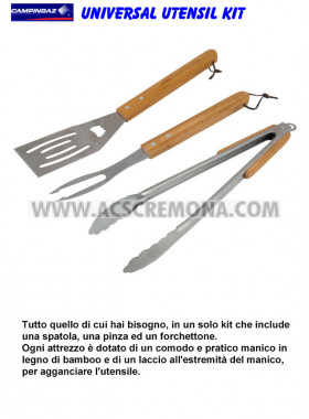 SET BARBECUE ATTREZZI UNIVERSAL KIT CAMPINGAZ